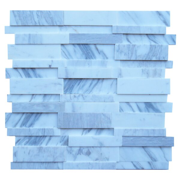 Perugia Marble Mosaic Tile in Blue by NovoTileStudio