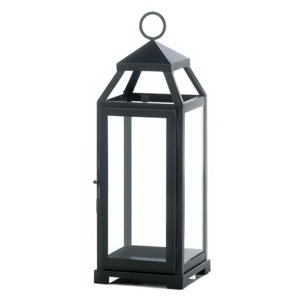 La Lean and Sleek Iron and Glass Lantern by Zingz