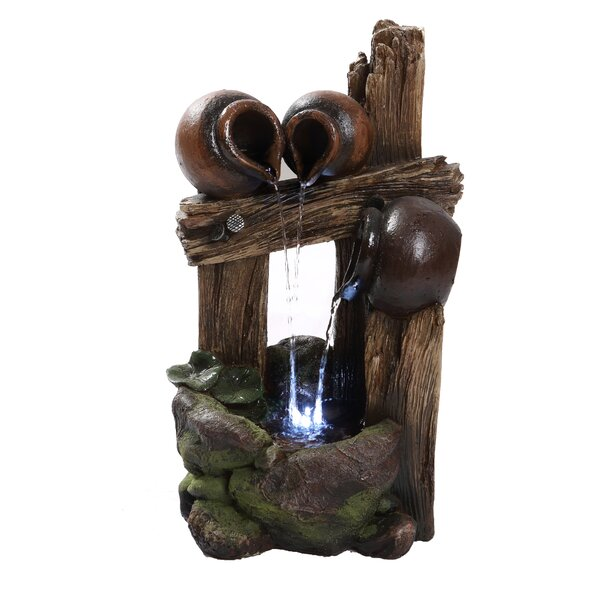 Polyresin Pouring Jugs Fountain with LED Light by Hi-Line Gift Ltd.