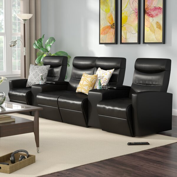 Skiba Home Theater Sofa (Row Of 4) By Red Barrel Studio