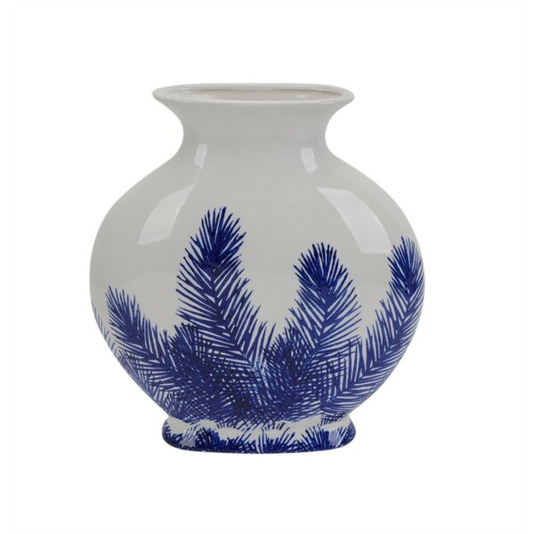 Padmore Beautifully Designed Fern Ceramic Table Vase by Canora Grey