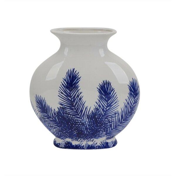 Padmore Beautifully Designed Fern Ceramic Table Va