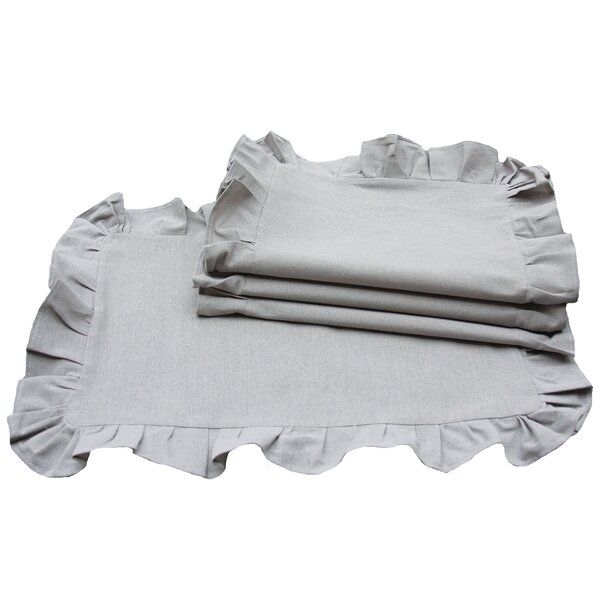 Ruffle Trim Placemat (Set of 4) by Xia Home Fashions