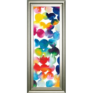 'Bright Circles III' by Wild Apple Portfolio Framed Graphic Art by Classy Art Wholesalers