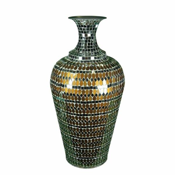 Baxter Glistening Mosaic Floor Vase by World Menagerie