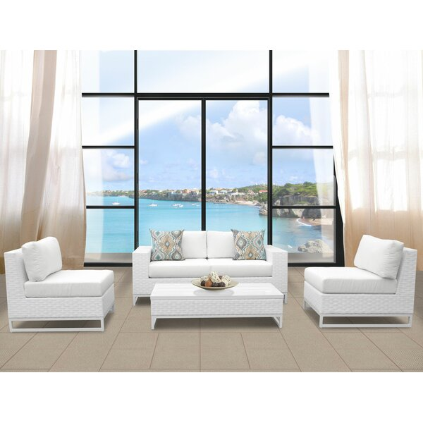 Miami 5 Piece Sofa Seating Group with Cushions by TK Classics