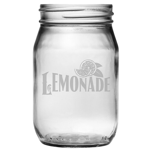 Country Lemonade Drinking Jar (Set of 4) by Susquehanna Glass
