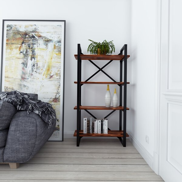 Argueta Modern Rustic Iron Standard Bookcase by Foundry Select