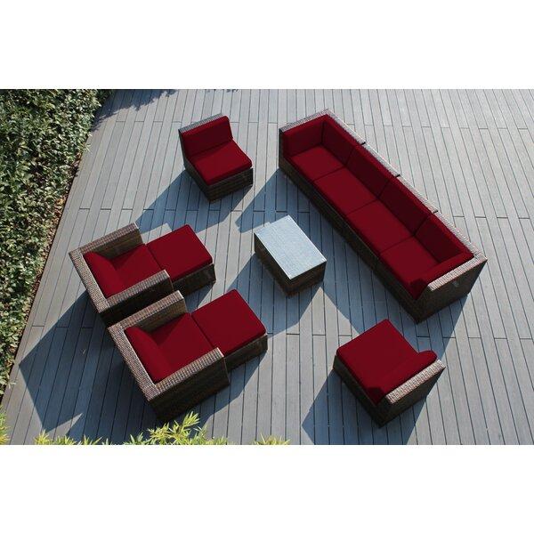 Baril 11 Piece Sunbrella Sofa Seating Group with Cushions by Wade Logan