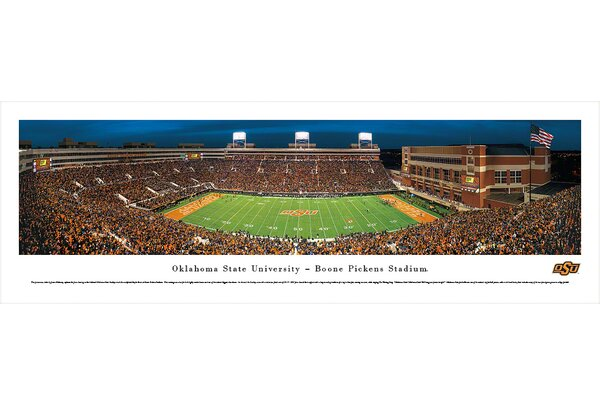 NCAA Oklahoma State University - 50 Yard Line by James Blakeway Photographic Print by Blakeway Worldwide Panoramas, Inc