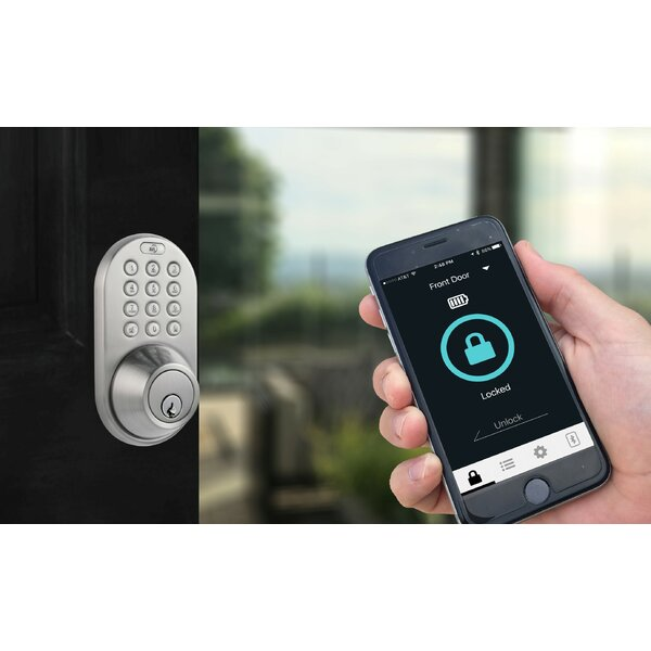 Single Cylinder Electronic Deadbolt with Bluetooth Capability by Milocks