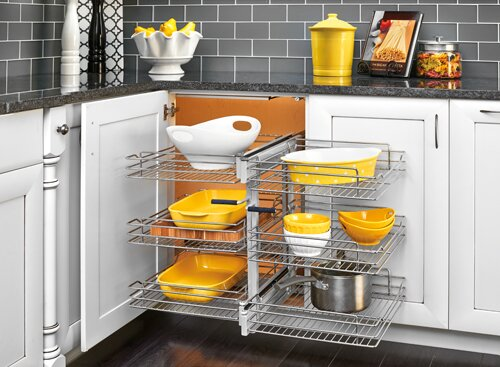 153 Tier Soft Close Blind Corner Organizer by Rev-A-Shelf