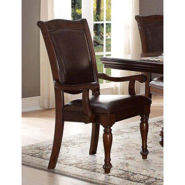 Galewood Traditional Style Upholstered Armchair In Brown (Set Of 2) By Darby Home Co
