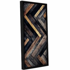 'Herringbone' Framed Painting Print On Canvas by Trent Austin Design