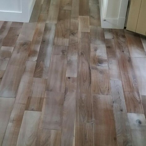 Hudson Bay Random Width Engineered Walnut Hardwood Flooring in Ontario by Albero Valley