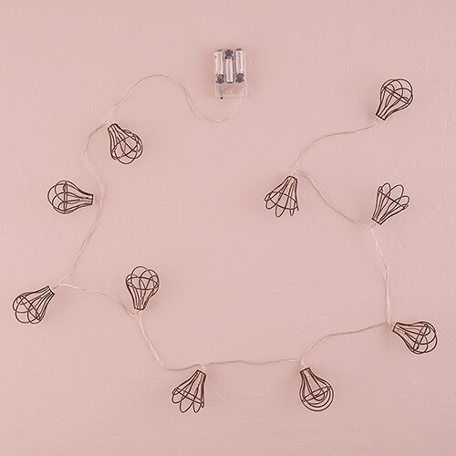 String of Lights with Light Bulb Wire Cage by Weddingstar