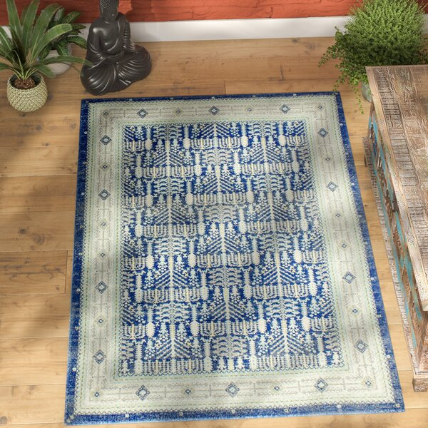 Felicienne Dark Blue Area Rug by World Menagerie