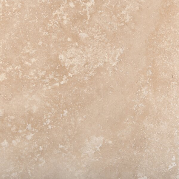 Travertine 24 x 24 Filled and Honed Field Tile in Ivory Classic by Emser Tile