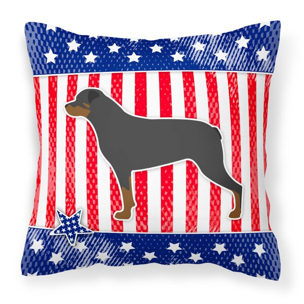 Patriotic Indoor/Outdoor Heavyweight Canvas Throw Pillow by The Holiday Aisle