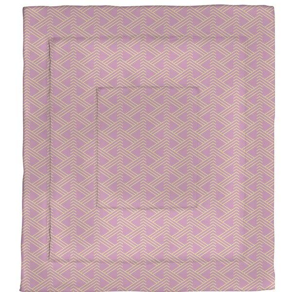 Jordao Full Color Zig Zag Pattern Microfiber Single Reversible Comforter