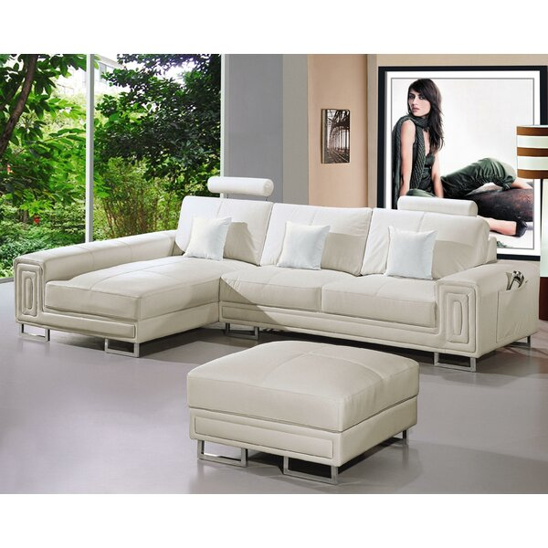 Martini Sectional with Ottoman by Hokku Designs