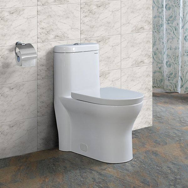 Monaco® Dual-Flush Elongated One-Piece Toilet (Seat Included) by Swiss Madison