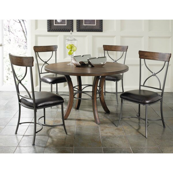 Royalton 5 Piece Solid Wood Dining Set by Red Barrel Studio