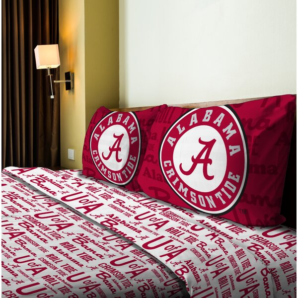 NCAA Microfiber Sheet Set by Northwest Co.