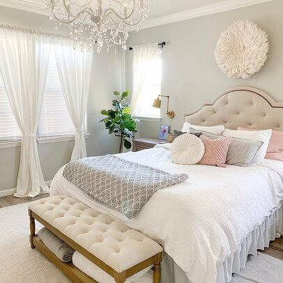 bedroom design ideas wayfair 11696 | glam bedroom design