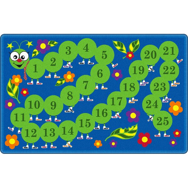 Counting Caterpillar Kids Rug by Flagship Carpets
