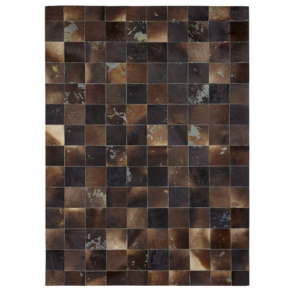 Natural Hide Hand-Tufted Cowhide Black/Brown Area Rug by Exquisite Rugs