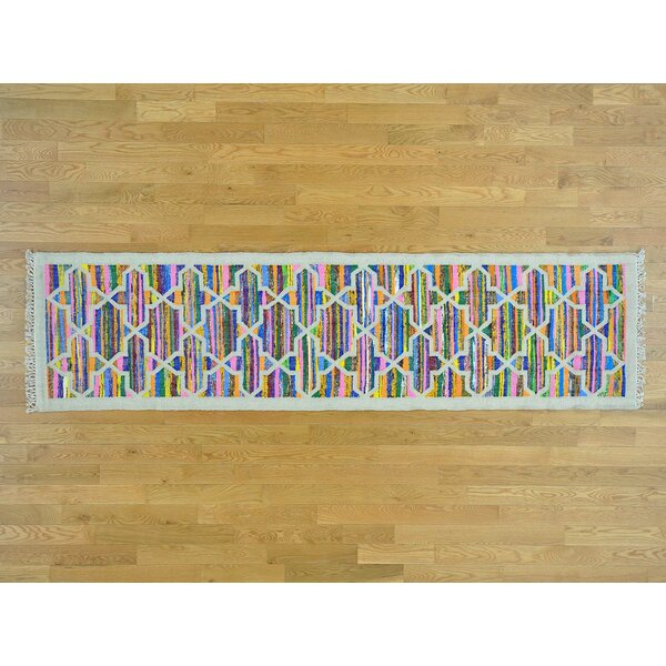 One-of-a-Kind Botkins Geometric Design Handmade Kilim Wool Area Rug by Isabelline