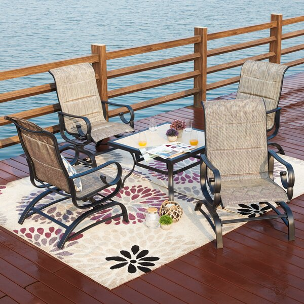 Stradley 5 Piece Multiple Chair Seating Group with Cushions by Charlton Home