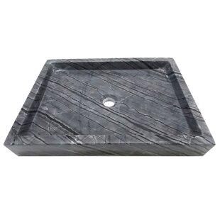 Best Reviews Stone Rectangular Vessel Bathroom Sink ByEden Bath
