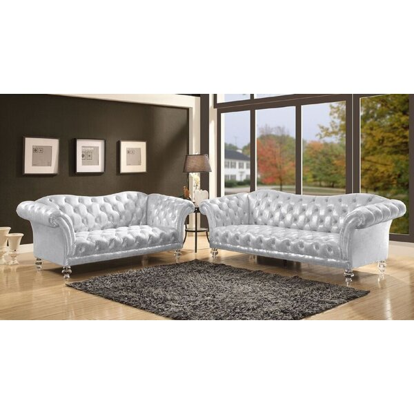 Iron 2 Piece Living Room Set by Rosdorf Park