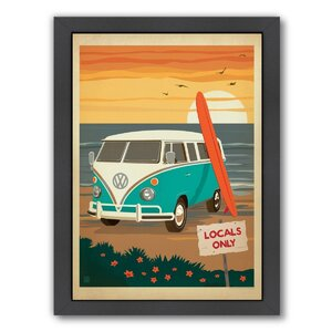 Locals Only VW Framed Vintage Advertisement by East Urban Home