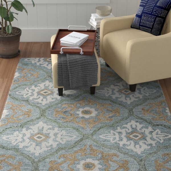 Arden Hand-Tufted Blue Area Rug by Red Barrel Studio