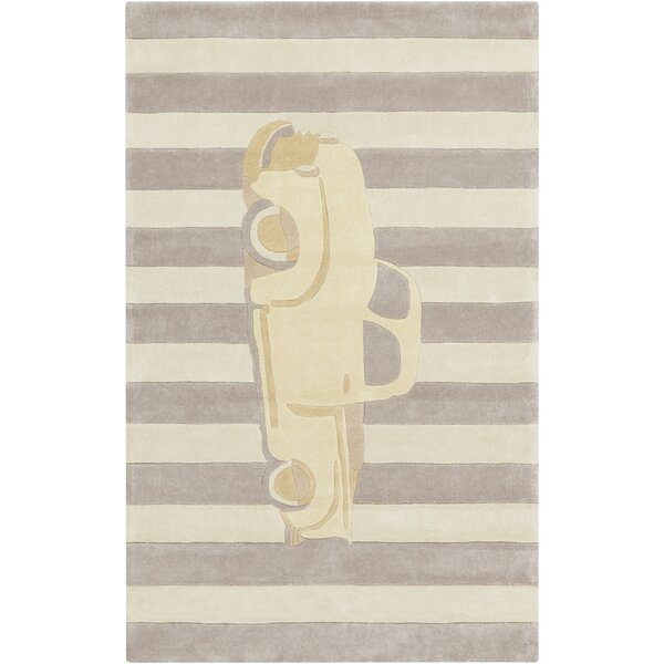 Quesinberry Hand-Tufted Beige/Brown Area Rug