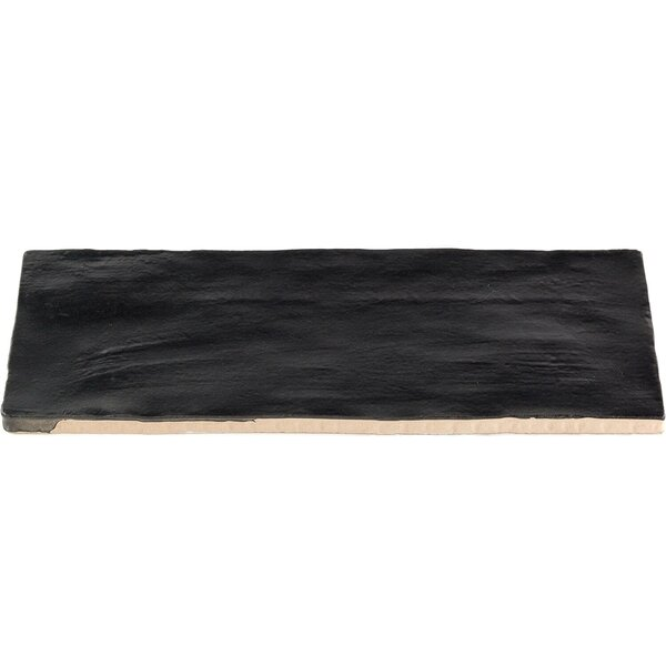 Amagansett 2 x 8 Ceramic Subway Tile in Black by Splashback Tile