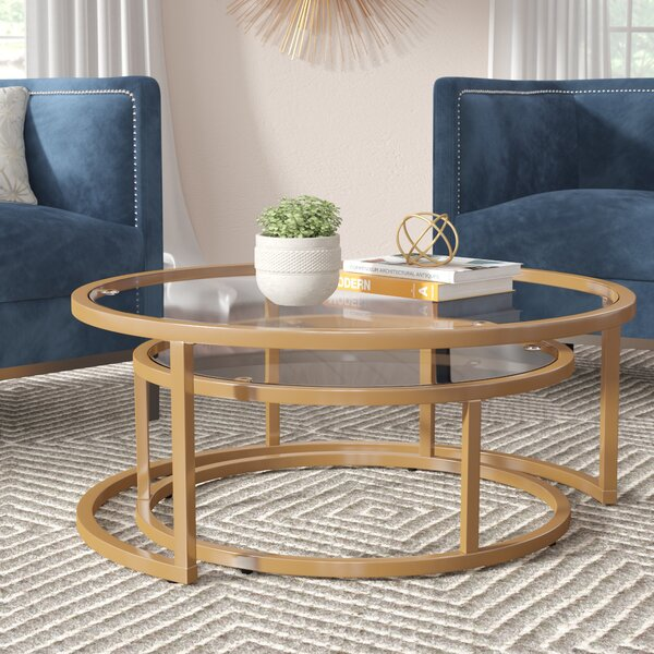 Evie 2 Piece Coffee Table Set By Everly Quinn