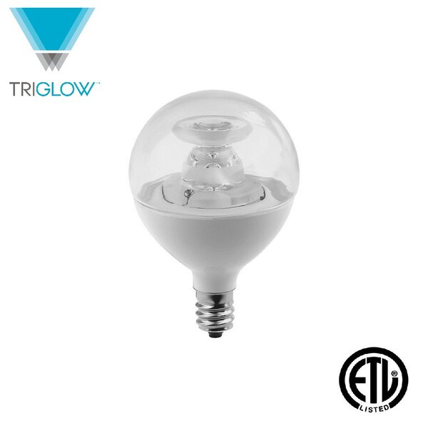 40W Equivalent E12 LED Globe Light Bulb by TriGlow