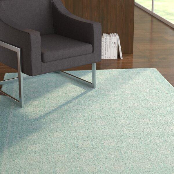 Aspasia Aqua Area Rug by Ebern Designs