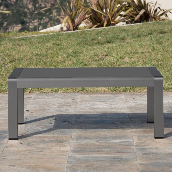 Crosstown Aluminum Coffee Table by Brayden Studio