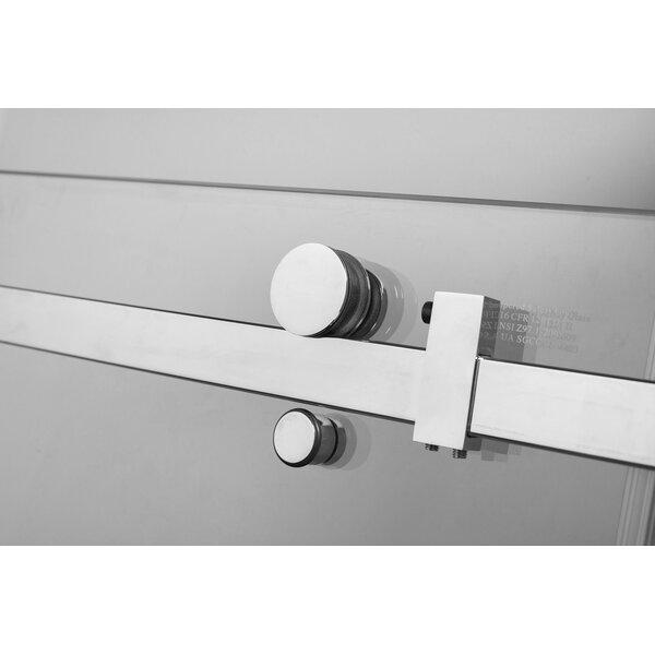 Moselle 72 x 75 Single Sliding Frameless Shower Door by Aston