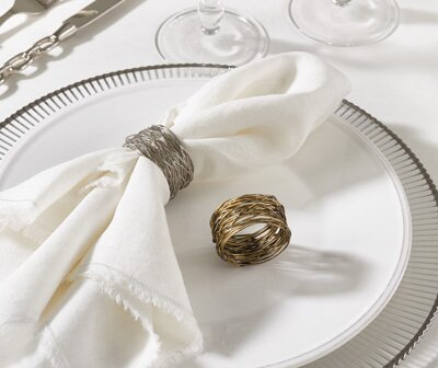 Metal Napkin Ring (Set of 4) by Brayden Studio