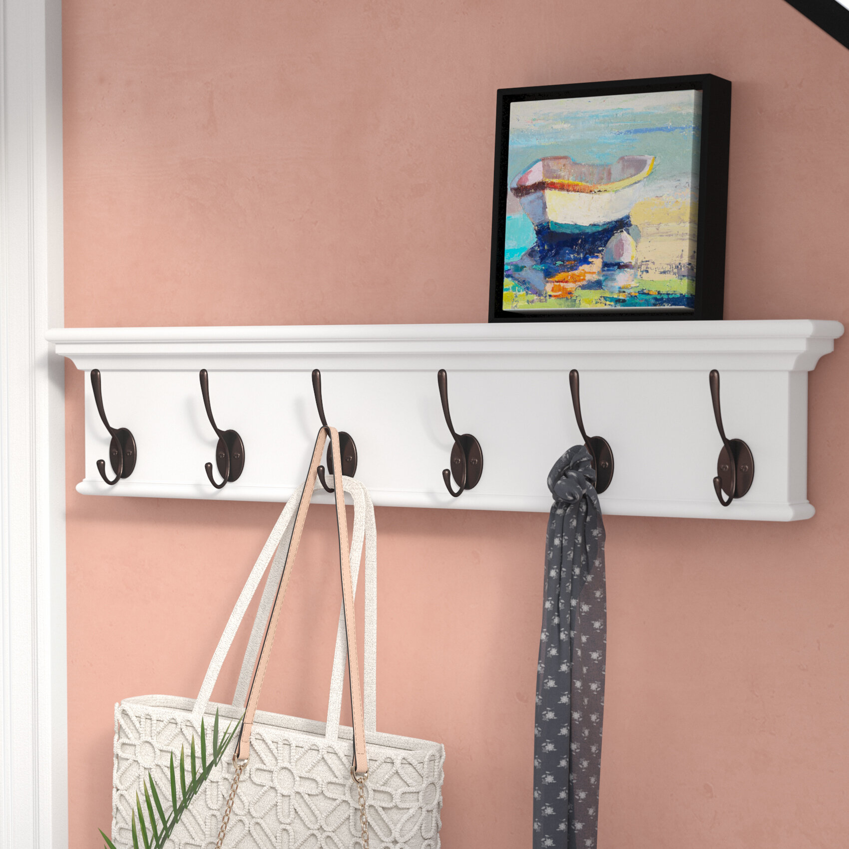 beachcrest home amityville mounted coat rack reviews wayfair rh wayfair com coat hanger shelf ikea coat hanger shelf ideas