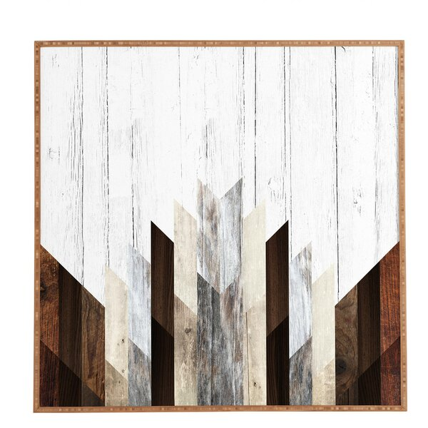 Trent Austin Design Geo Wood 3 Framed Graphic Art Print