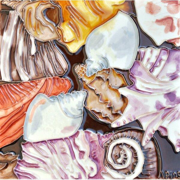 Pink Shells Tile Wall Decor by Continental Art Center