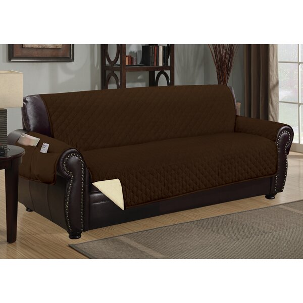Deluxe Hotel Box Cushion Sofa Slipcover by Winston Porter
