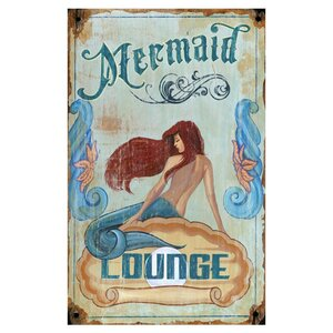 'Mermaid' Vintage Advertisement Plaque by Highland Dunes